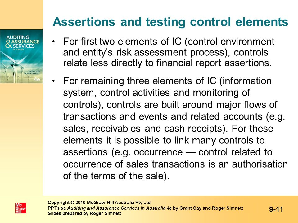 Assertions and testing control elements
