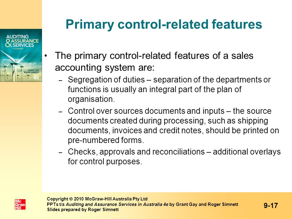 Primary control-related features