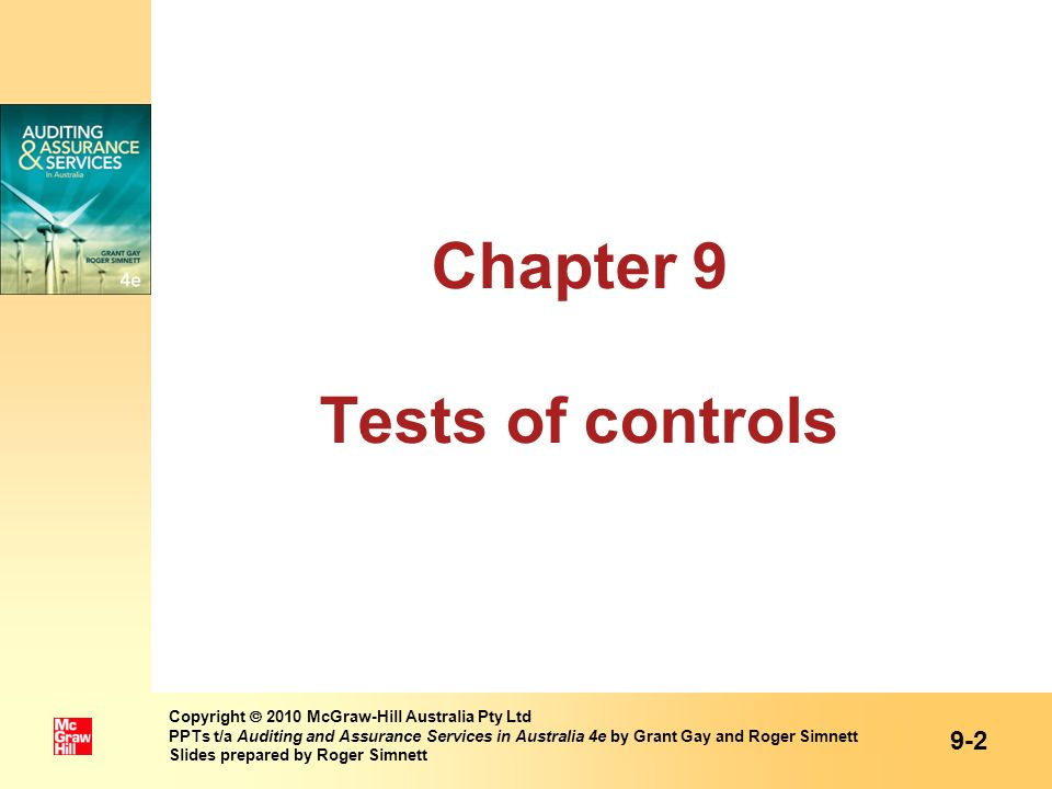 Chapter 9 Tests of controls