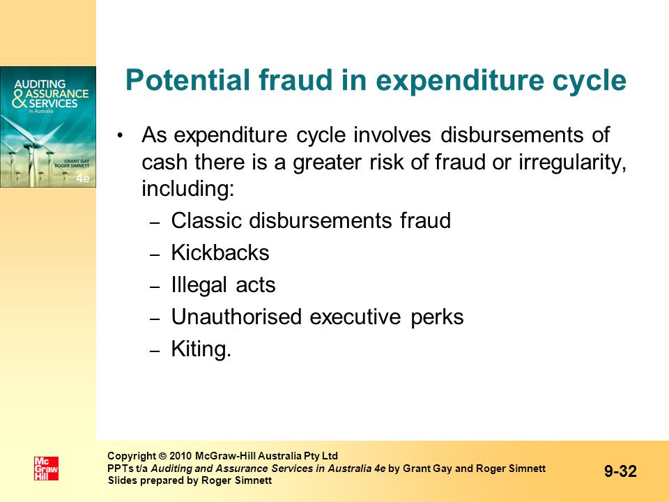 Potential fraud in expenditure cycle