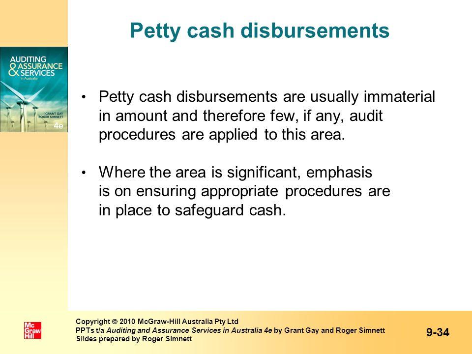 Petty cash disbursements