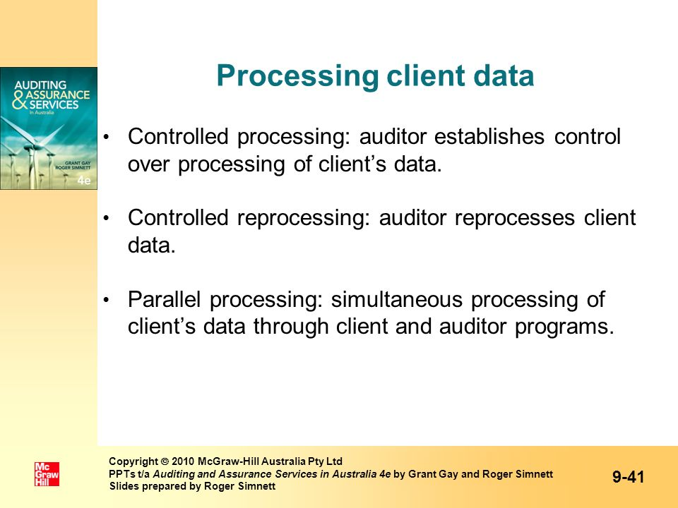 Processing client data