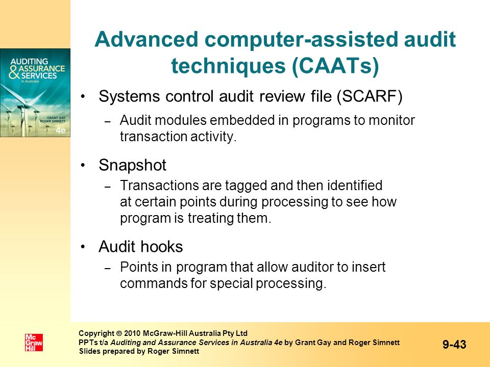 Advanced computer-assisted audit techniques (CAATs)