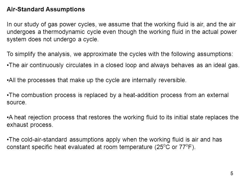 Air-Standard Assumptions