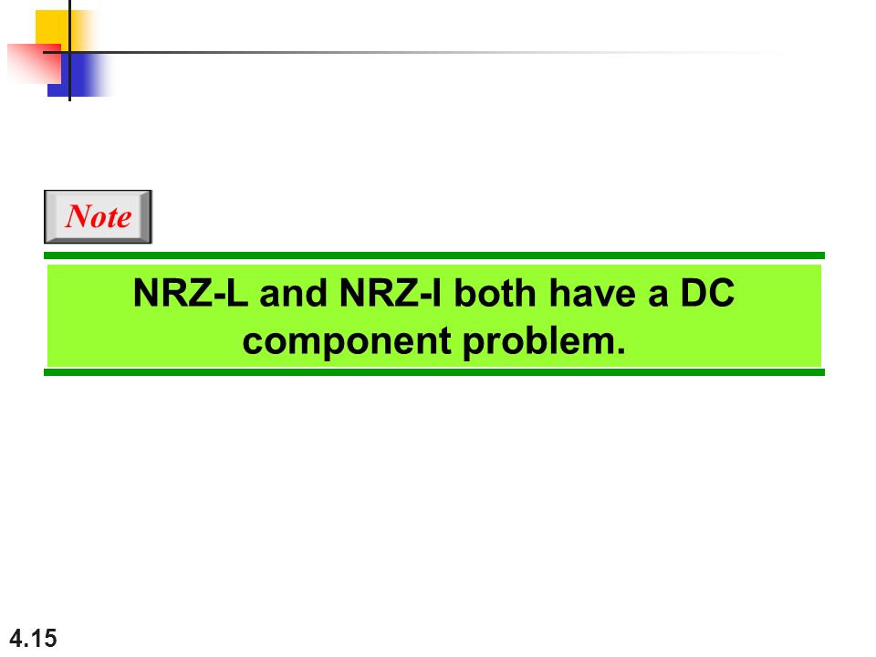 NRZ-L and NRZ-I both have a DC component problem.