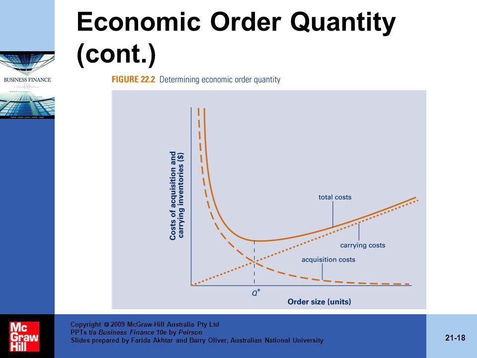 Economic Order Quantity (cont.)