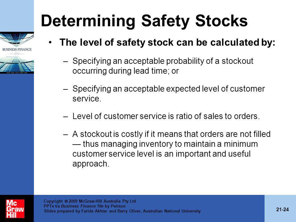 Determining Safety Stocks