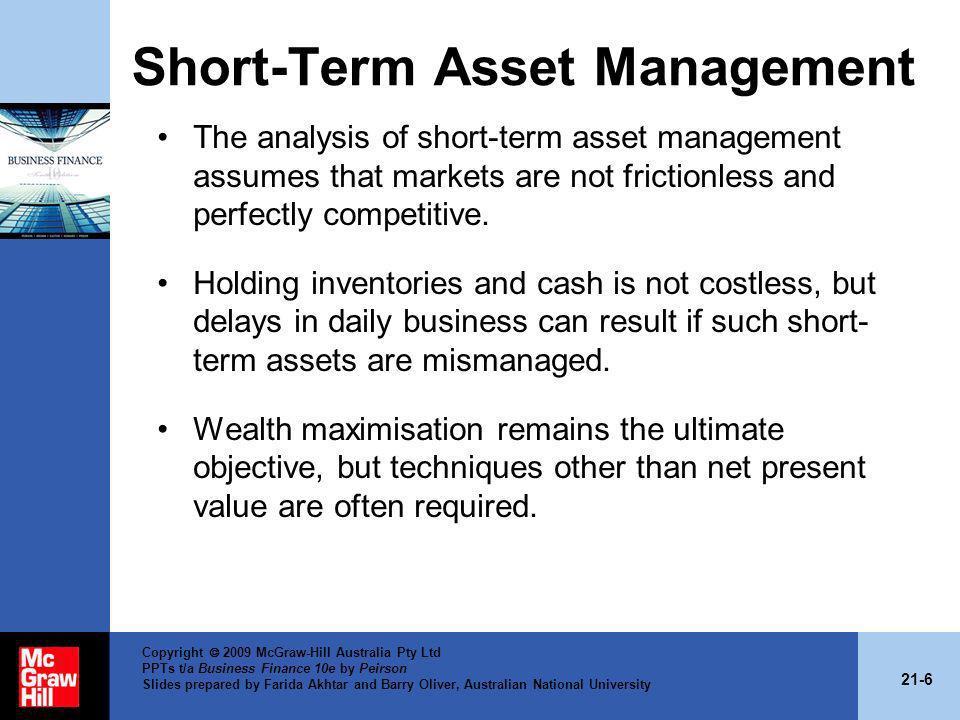 Short-Term Asset Management