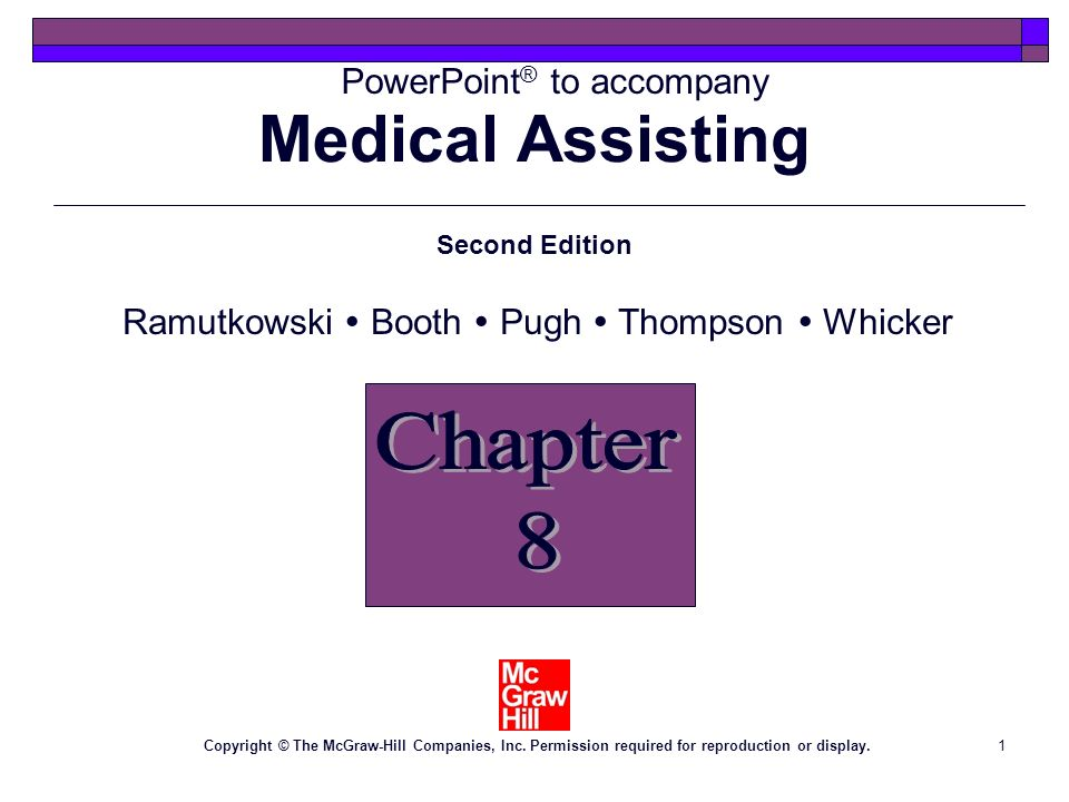 Medical Assisting Chapter 8