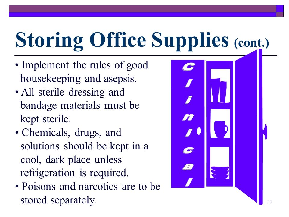 Storing Office Supplies (cont.)