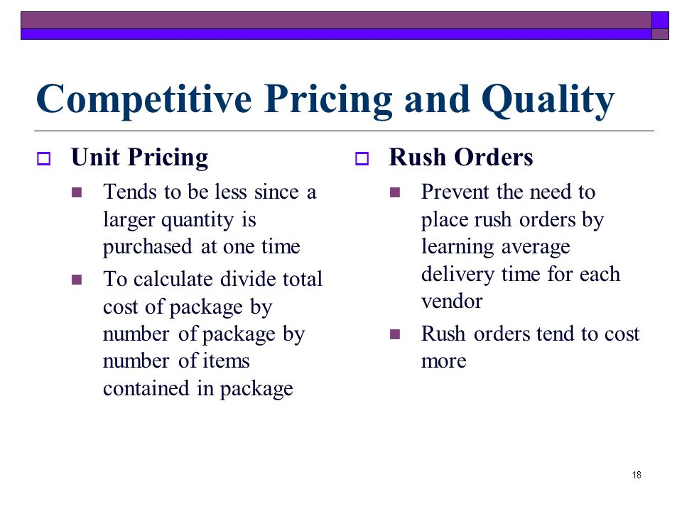 Competitive Pricing and Quality