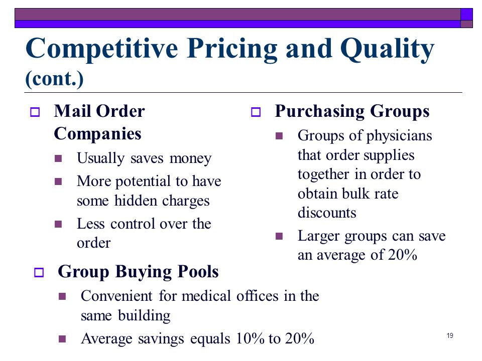 Competitive Pricing and Quality (cont.)