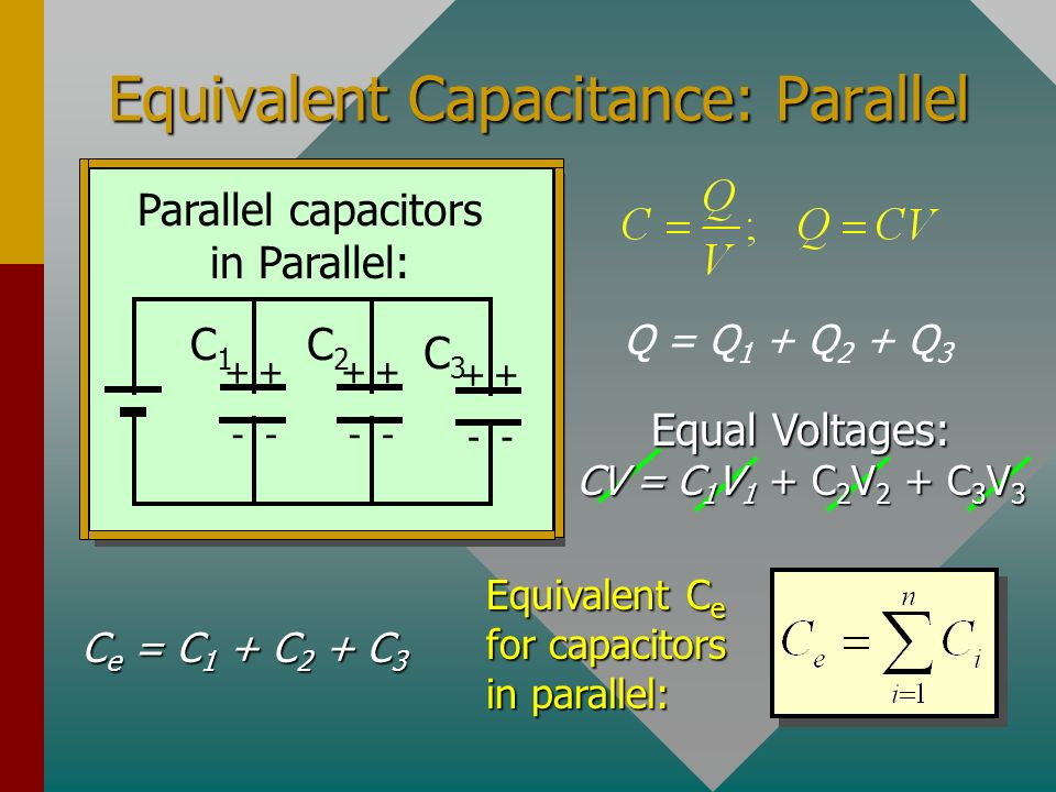Equivalent Capacitance: Parallel