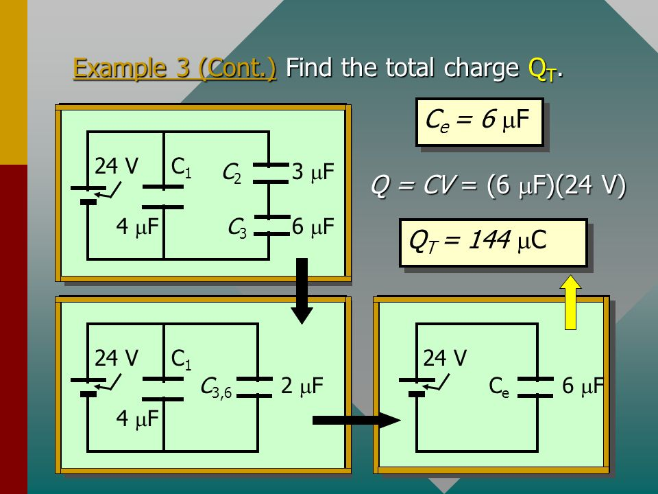 Example 3 (Cont.) Find the total charge QT.