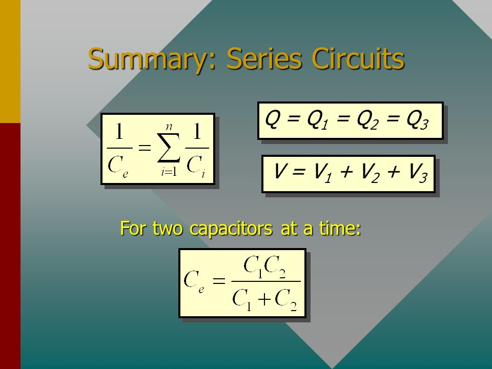 Summary: Series Circuits