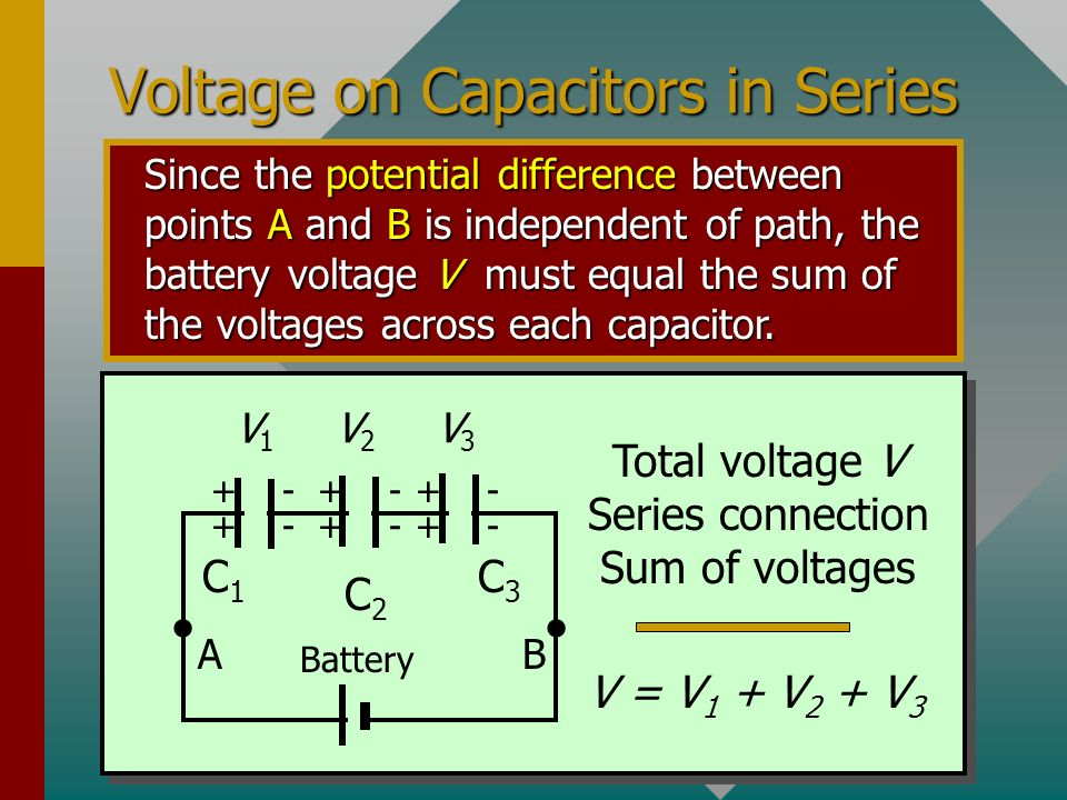 Voltage on Capacitors in Series