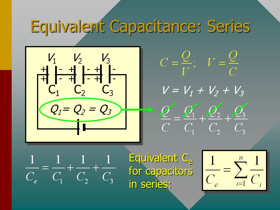 Equivalent Capacitance: Series