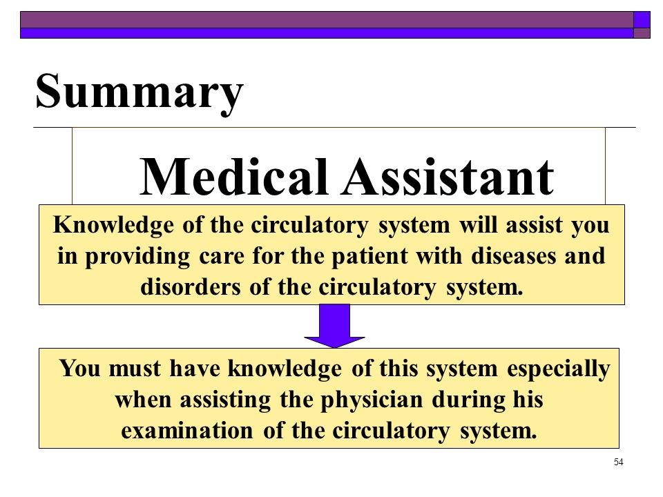 Medical Assistant Summary