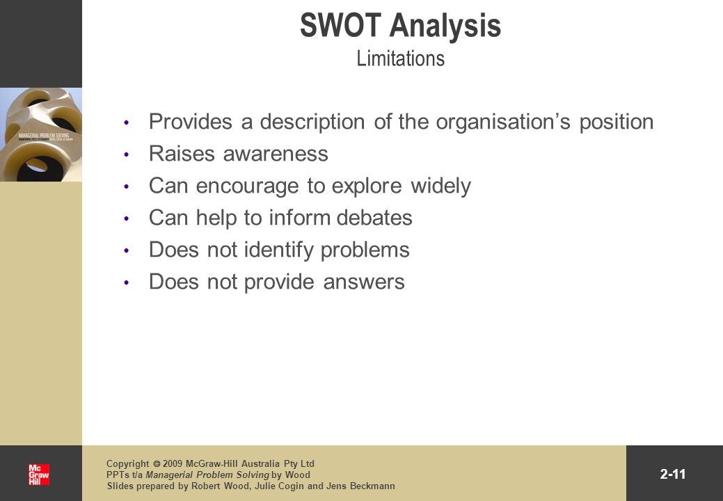 SWOT Analysis Limitations