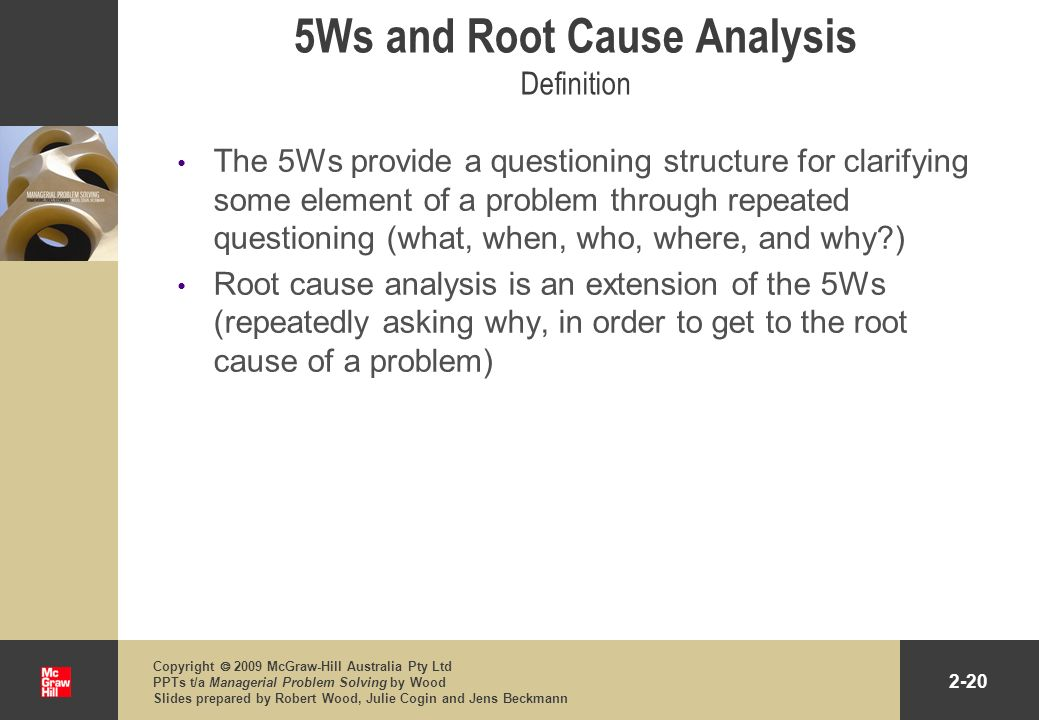 5Ws and Root Cause Analysis Definition