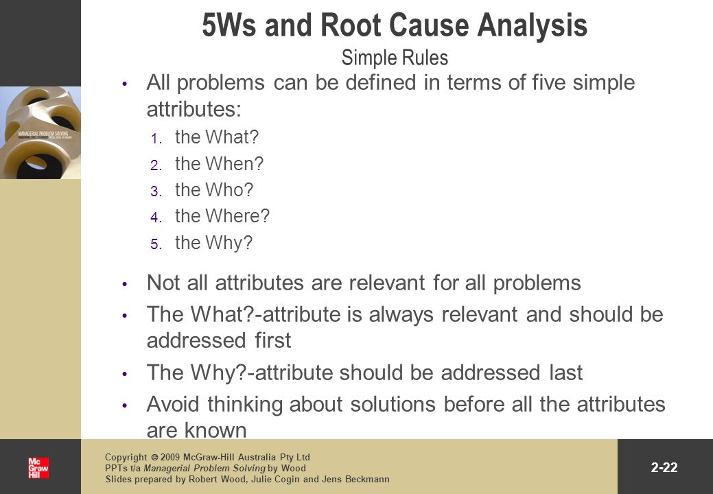 5Ws and Root Cause Analysis Simple Rules