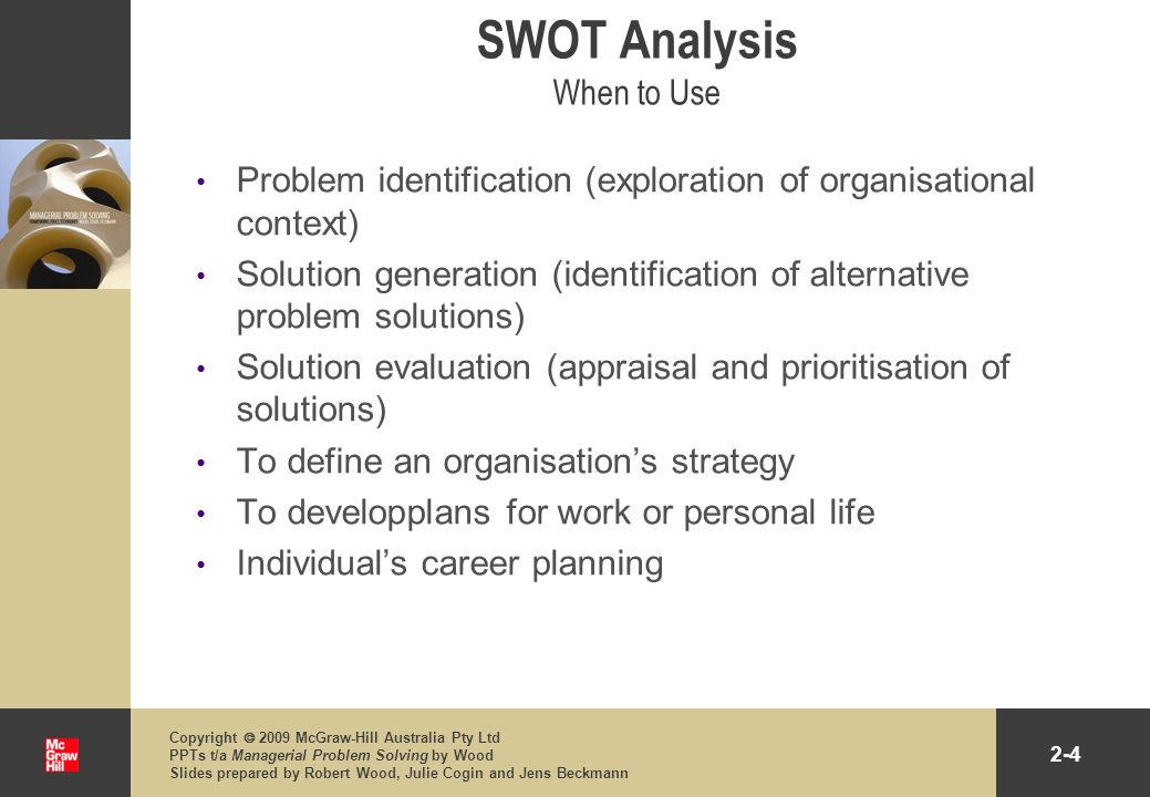 SWOT Analysis When to Use