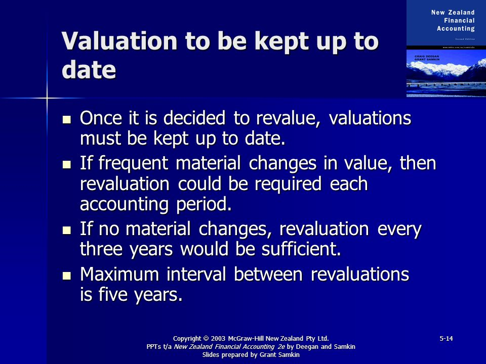 Valuation to be kept up to date