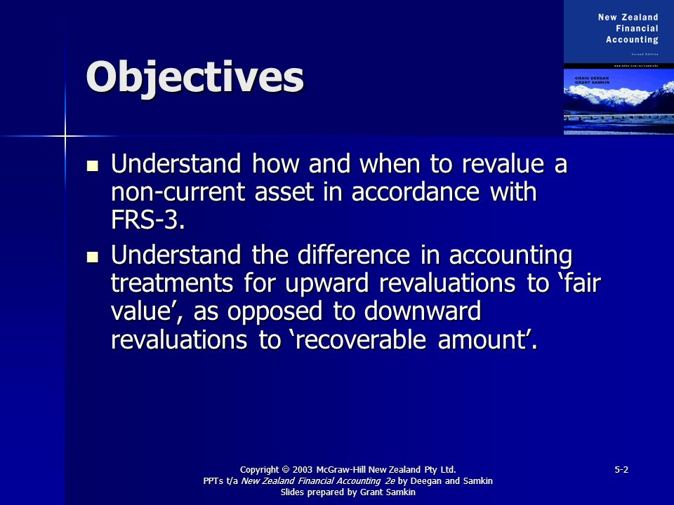Objectives Understand how and when to revalue a non-current asset in accordance with FRS-3.