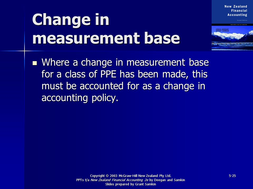 Change in measurement base