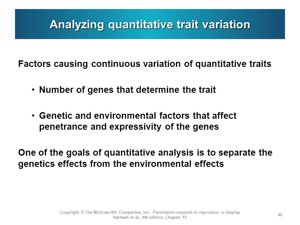 Analyzing quantitative trait variation