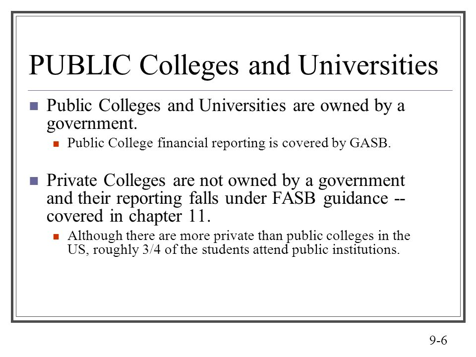 PUBLIC Colleges and Universities