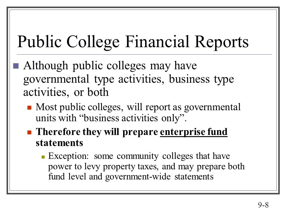 Public College Financial Reports