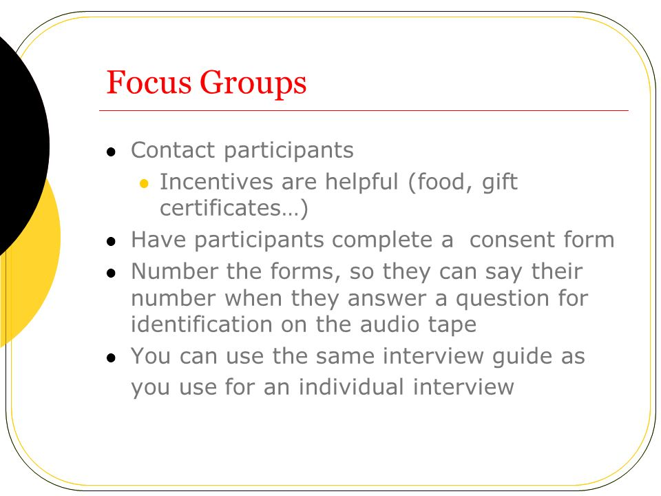 Atp Online Module July 2006 Conducting Qualitative Research - Ppt