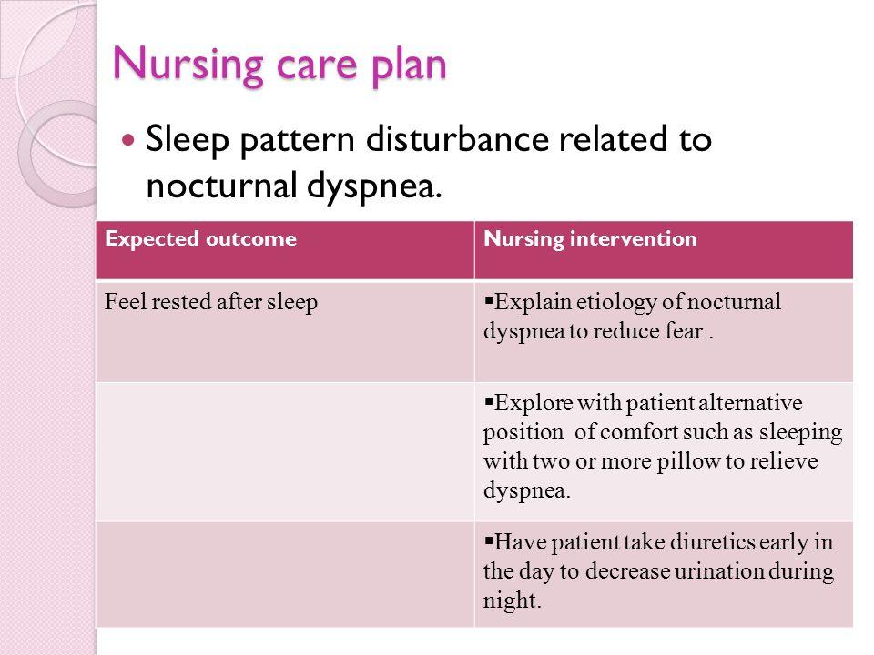 disturbed sleep pattern nursing diagnosis
