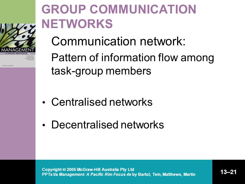 GROUP COMMUNICATION NETWORKS