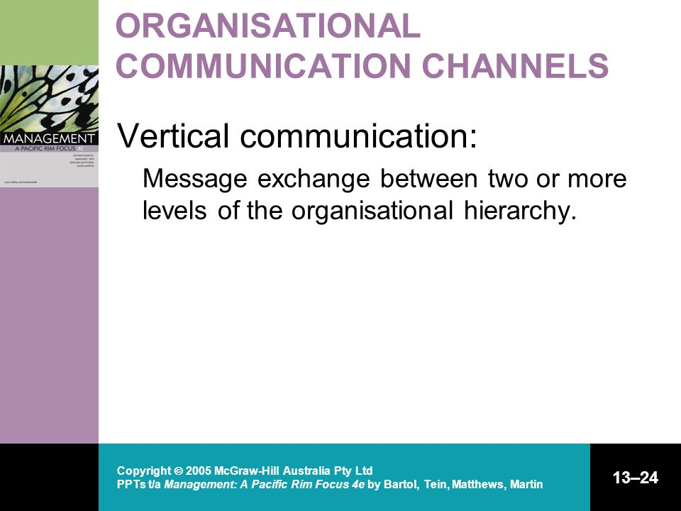 ORGANISATIONAL COMMUNICATION CHANNELS