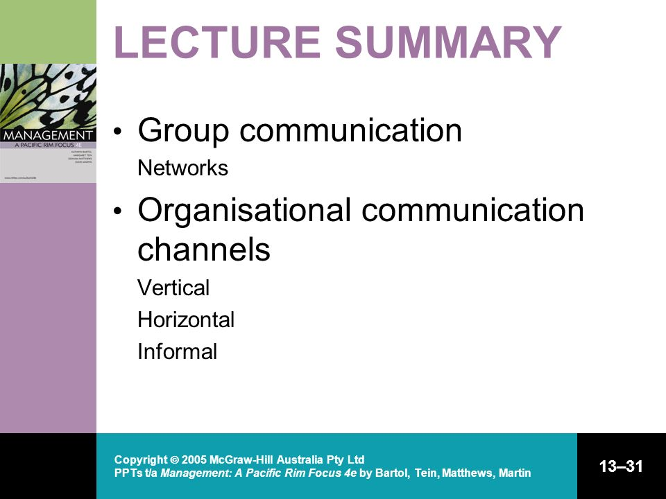 LECTURE SUMMARY Group communication