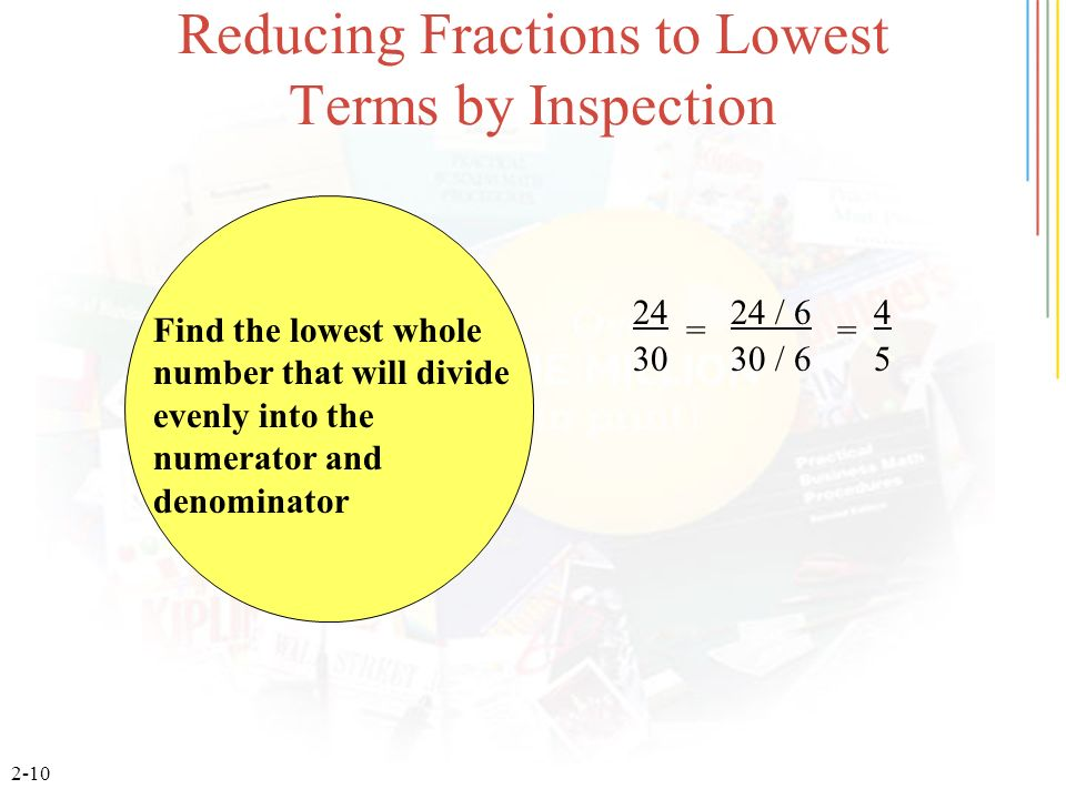 Reducing Fractions to Lowest Terms by Inspection