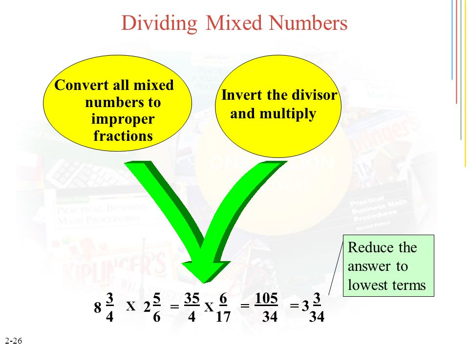 How to write a mixed number in lowest terms
