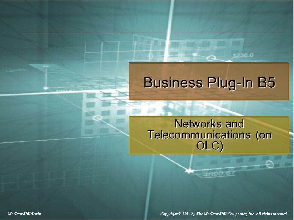 Networks and Telecommunications (on OLC)