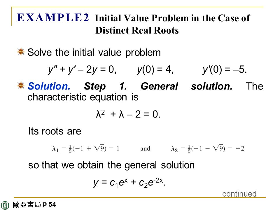 How To Solve An Initial Value Problem