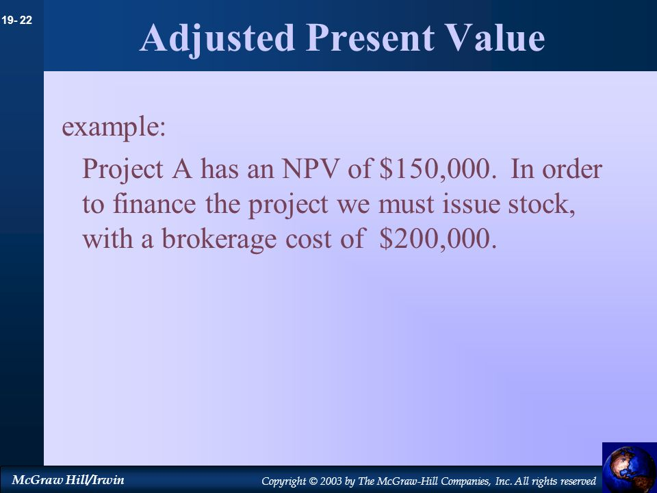 Adjusted Present Value