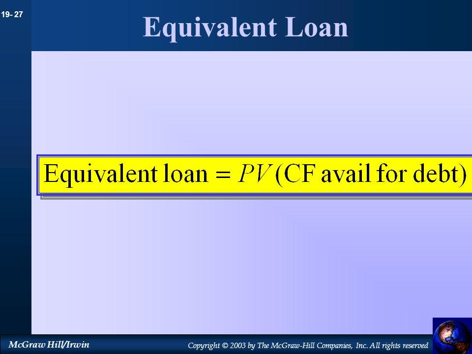 Equivalent Loan