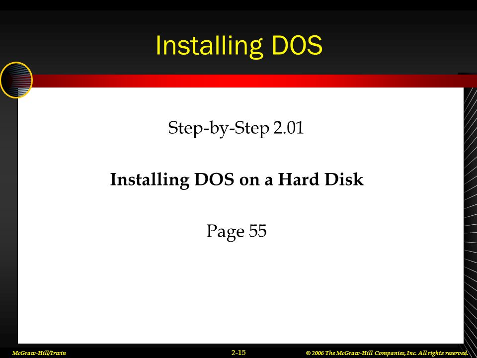 Installing DOS on a Hard Disk