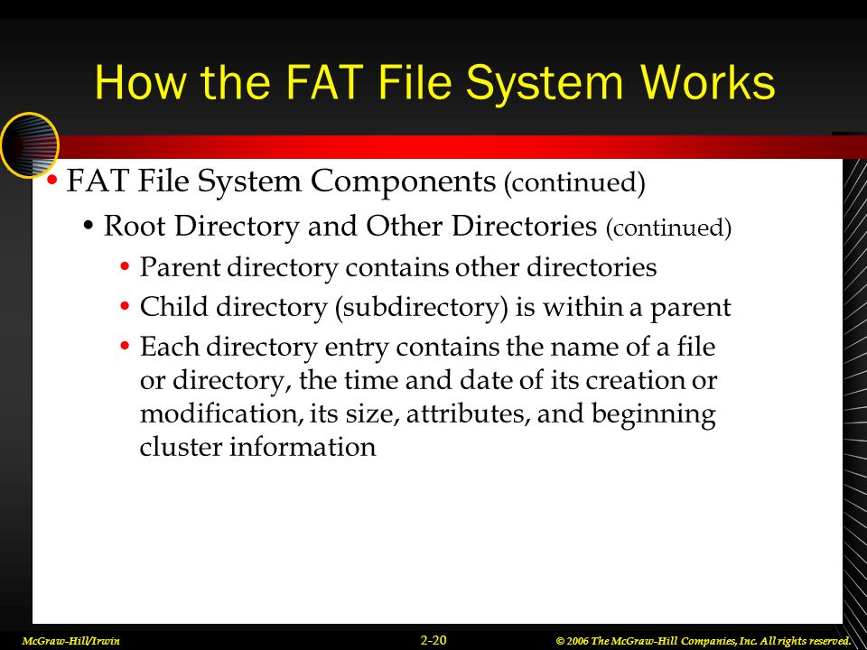 How the FAT File System Works