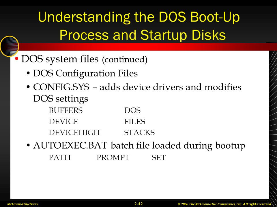Understanding the DOS Boot-Up Process and Startup Disks