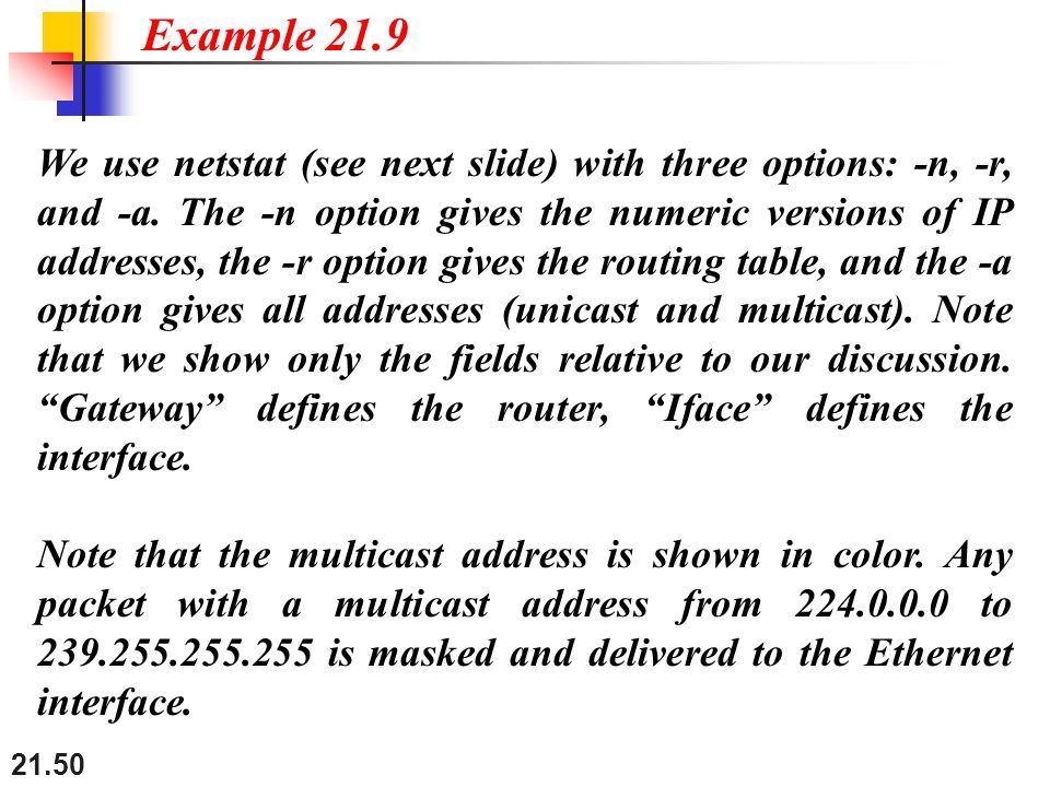 Example 21.9
