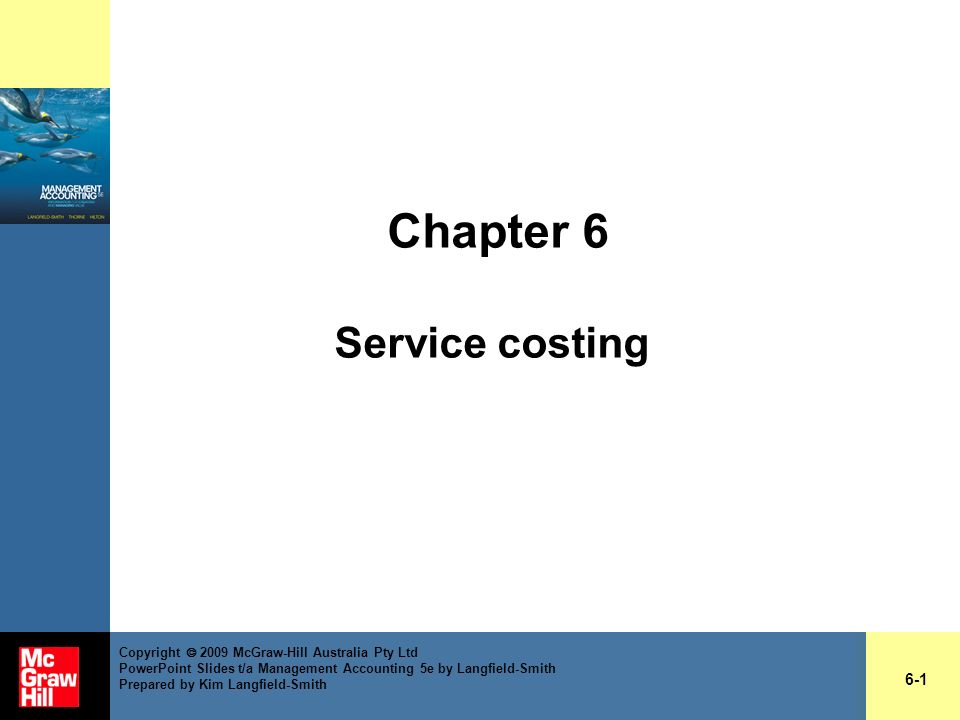 Chapter 6 Service costing