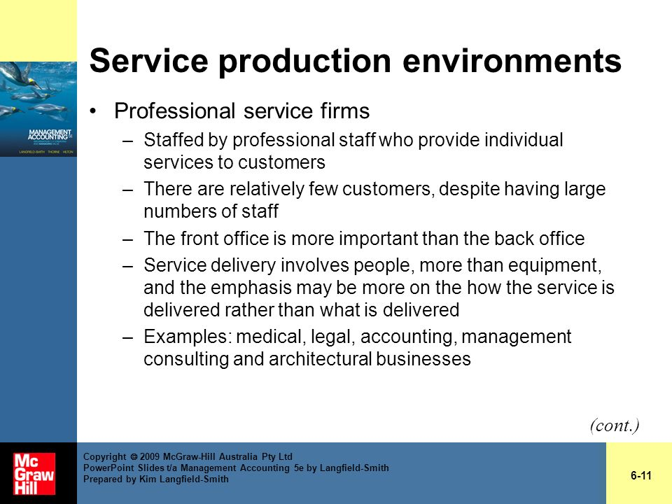 Service production environments