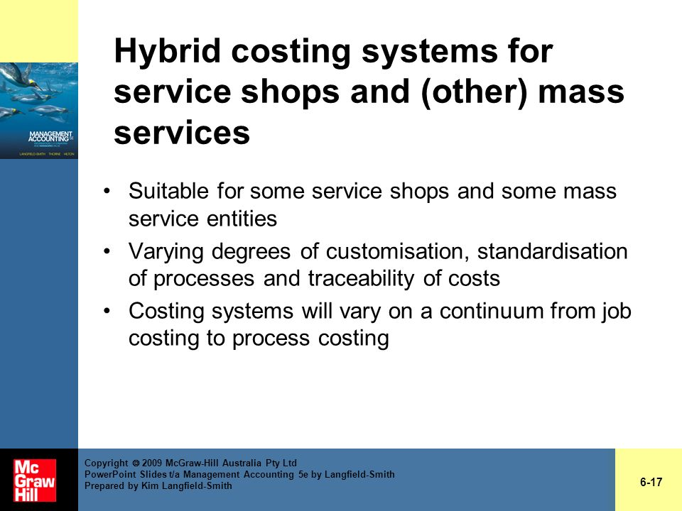 Hybrid costing systems for service shops and (other) mass services